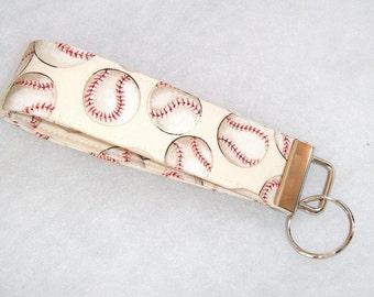 Key Fob wristlet - Baseballs