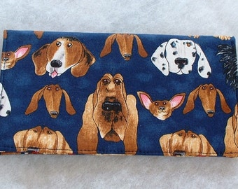 Checkbook Cover - Dogs