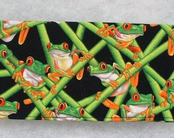 Checkbook Cover - Frogs