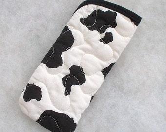 Quilted Eyeglass/sunglass case - Holstein cow spots