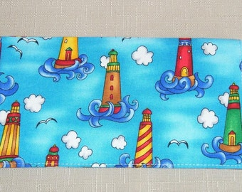 Checkbook Cover - Lighthouses 2