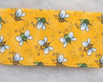 Checkbook Cover - Bumblebees 1