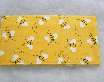 Checkbook Cover - Bumblebees2