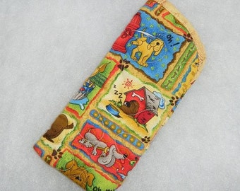 Quilted Eyeglass/Sunglass case - Doggy world