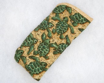 Quilted Eyeglass/Sunglass case - Turtles