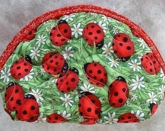 Small Quilted Purse - Ladybugs large