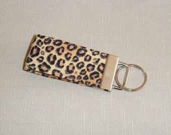 Mini Key Fob  - Leopard print