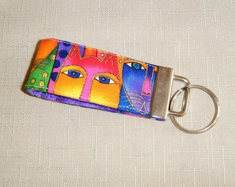 Mini Key Fob  - Laurel Burch Cats