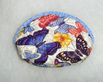 Small Quilted Purse - Butterflies