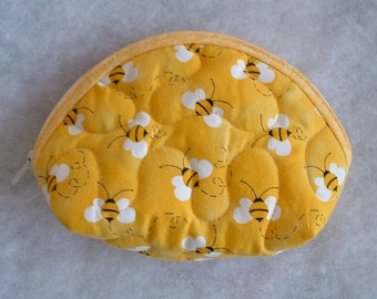 Small Quilted Purse - Bumble Bees 2