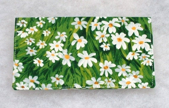 Checkbook Cover - Daisies