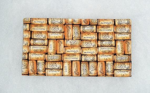 Checkbook Cover - Wine Corks