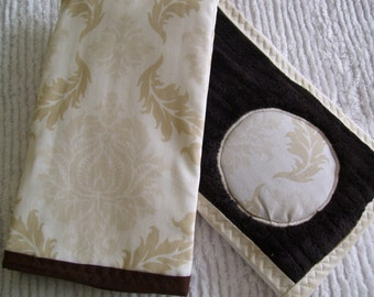 Sand and Air collection one reversible bib and two burp cloths