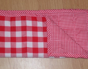 Red Gingham quilt,Gingham quilted Baby Blanket-blanket-baby blanket-gender neutral baby blanket-baby Christmas gifts-ready to ship