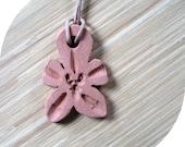 Terracotta Orchid Pendant
