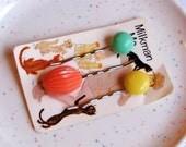 Vintage Gumdrop Hair Pins (set a)