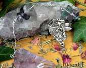 Faerie Queen - Amethyst and Fluorite Gemstone Pendulum - For scrying, divination and reiki healing and energy work