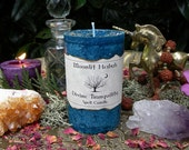Divine Tranquility Herbal Spell Candle - 2x3 Pillar - Peace, Tranquility, Meditations, Calming a Stressful Household or Situation