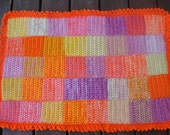 Bright patchwork scatter rug or bathmat