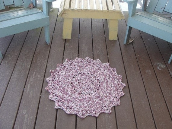 Small doily scatter rug