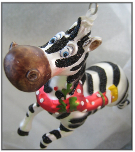 Christmas Tree Miracle Movie: Items Similar To Madagascar Movie Zebra Christmas Ornament