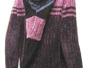 Ecofriendly Chunky Hoodie Sweater Burgundy US10-14 Large (029)