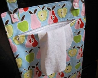 Apples & Pears Kitchen Wetbag - hanging laundry bag for kitchen linens