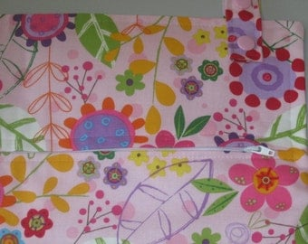 Pixie Garden 17x34 HUGE hanging cloth diaper wetbag