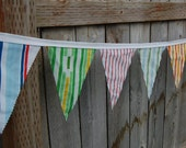 Simply Stripes Vintage Sheets Pennant Banner - 8'