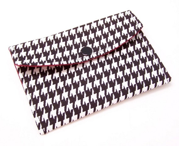 MINI WALLET Business Card Case . . . Alabama Crimson and Houndstooth