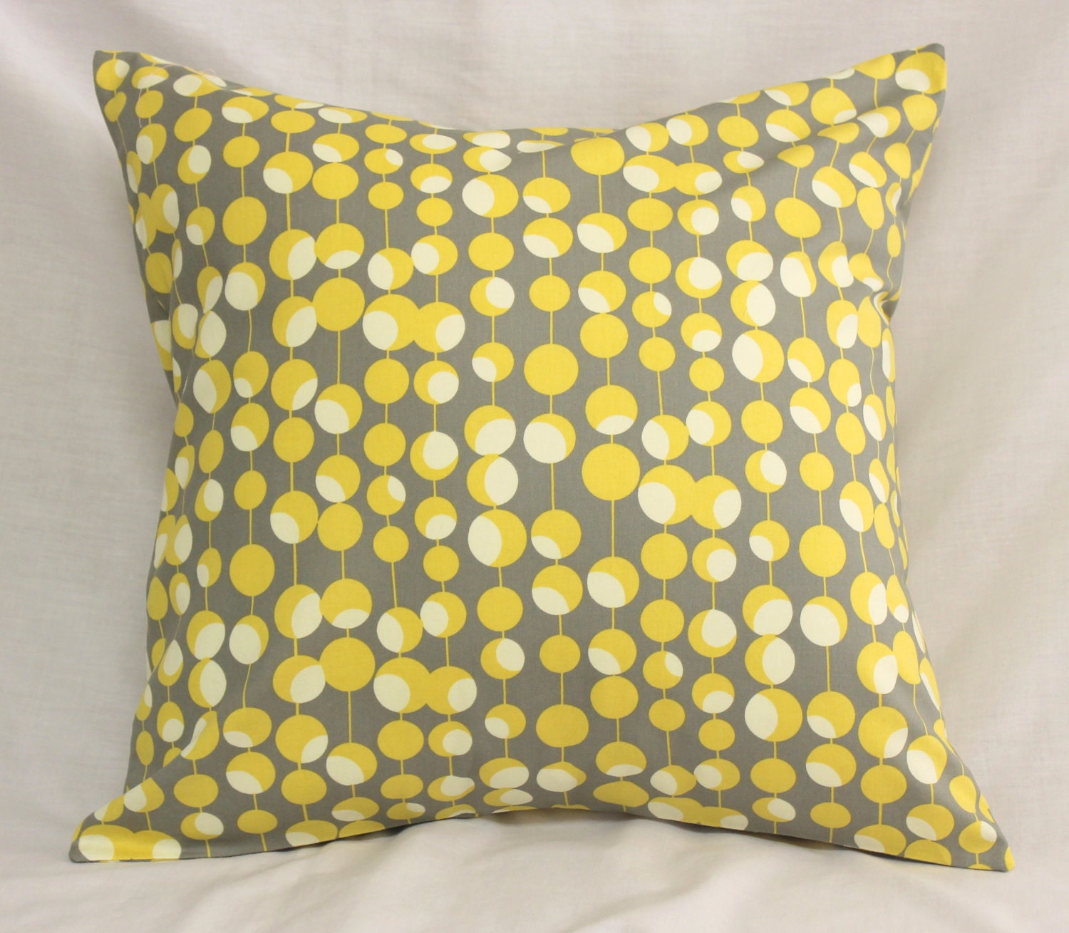 Decorative Pillows In Yellow : Decorative Pillow Covers Dijon Mustard Yellow & Gray