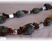 Reserved for MARY  - Opal Necklace with a Twist