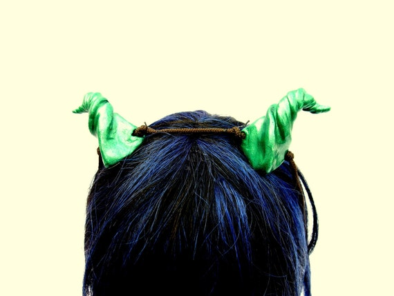 Green Dragon Horns, Fantasy Accessory, Costume Horns, Orc Horns, Oni Horns, Larping