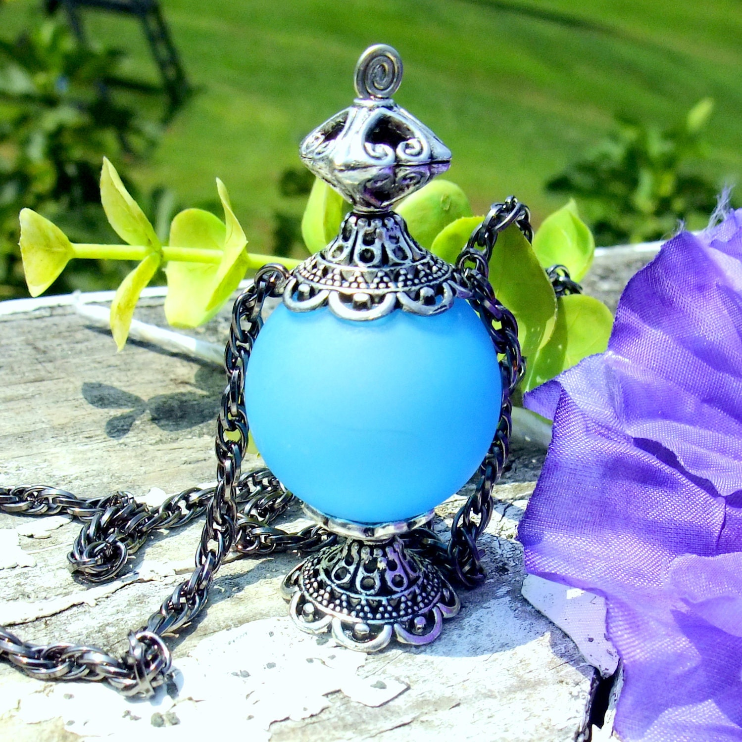 night wisp inspired pendant necklace fairy bottle style