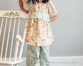 pretty in pastels - LAST ONE - peasant top with ruffled pants ----- 4t/5t - get it in time for Easter