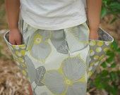 "Amy Butler's Optic Blossom and Martini made into this twirl ""Big Pockets Skirt""   2T - 6Y"