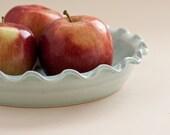 Ceramic Pie Plate - Aqua