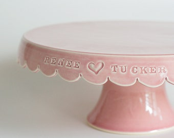 Custom Wedding Cake Stand - 10 inch - color options