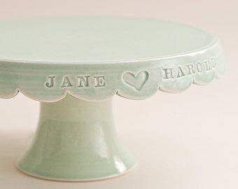 Custom Wedding Cake Stand - 8 inch - color options