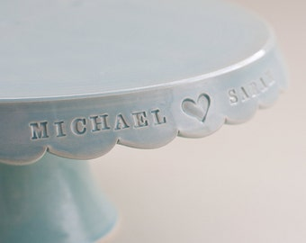 Personalized Wedding Cake Stand - 10 inch - color options