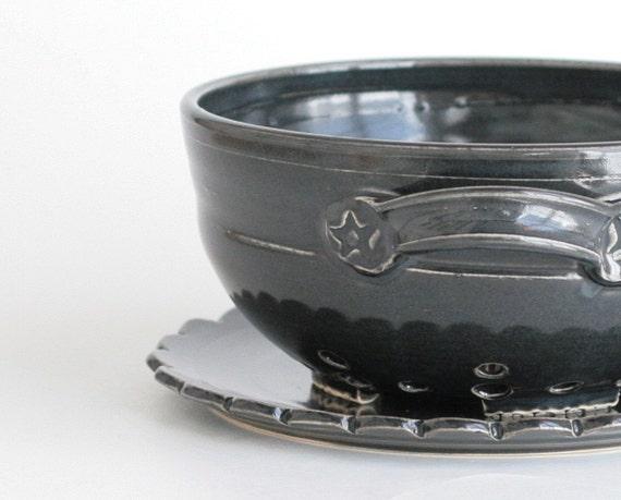 SALE - Berry Bowl - Black - Large