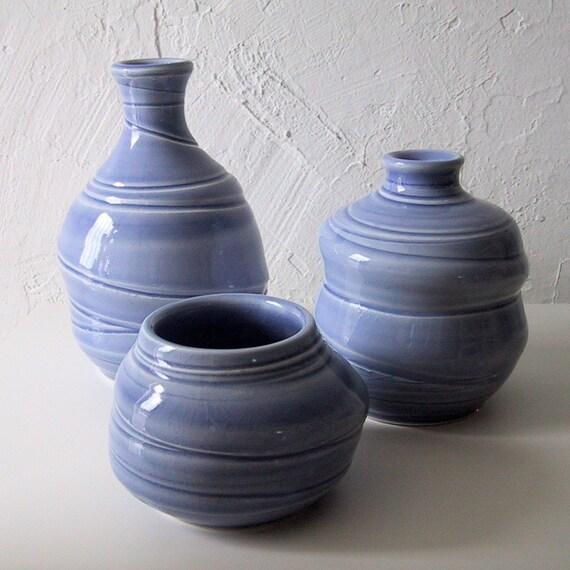 Blue wonky bottle set.