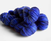 DROPPED DOWN - Hand-dyed mini skein sw MCN yarn 10g fingering sock weight wool in blues