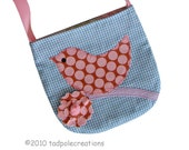 Girls Sweet Spotty Pink Bird Pocket Purse - Toddler to Youth - Easter Gift