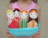 One Babushka Russian Matryoshka Cloth Softie Doll for Baby -Toddler - Youth Girl - Pick 1 of My Doll Designs