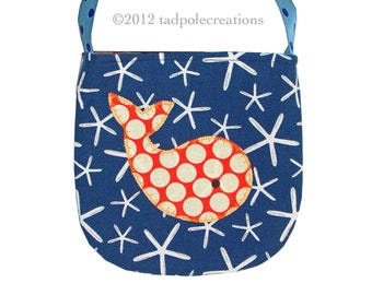 Girls Whale Purse - Spotty Red Whale Pocket Purse  - For Little Girls - Nautical Preppy Style