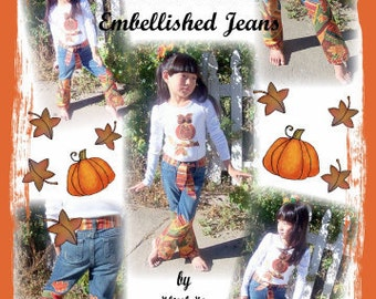 DIY Autumn Patches Appliqued and Embellished Jeans eBook Pattern