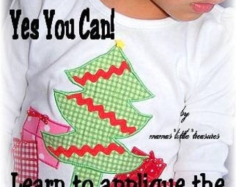 DIY Learn to Applique eBook children's boutique clothing pattern