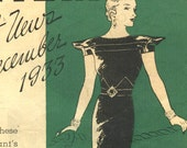 Butterick Fashion News booklet December 1933 in PDF