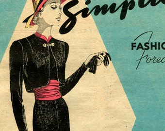 Simplicity Fashion Forecast February 1938 pattern booklet in PDF